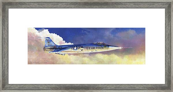 Lockheed F-104a Starfighter Framed Print
