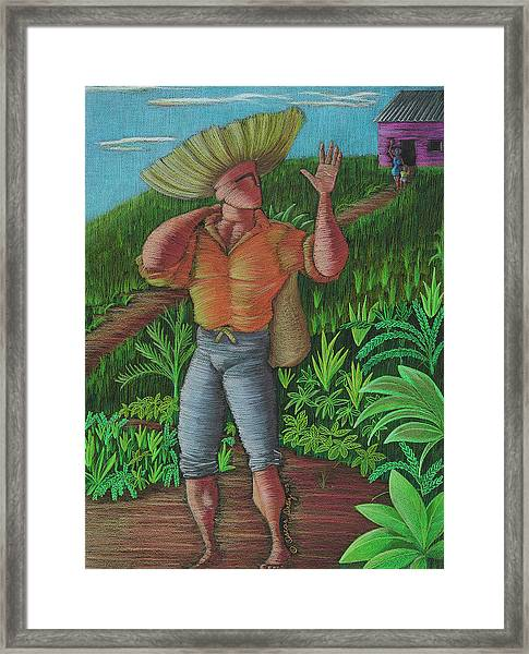 Framed Print featuring the painting Loco De Contento by Oscar Ortiz