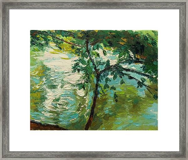 Loeb Boathouse Reflections Ny Oil 8x10 Framed Print