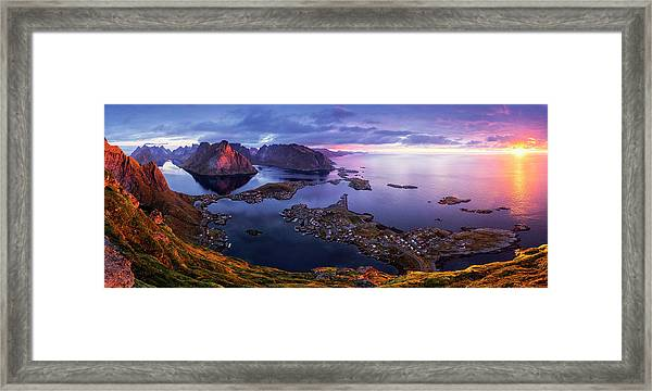 Lofoten Sunrise Framed Print by Sorin Tanase