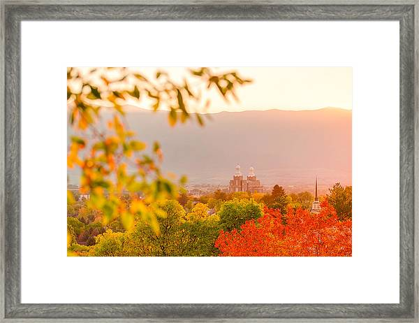 Logan Temple Framed Print