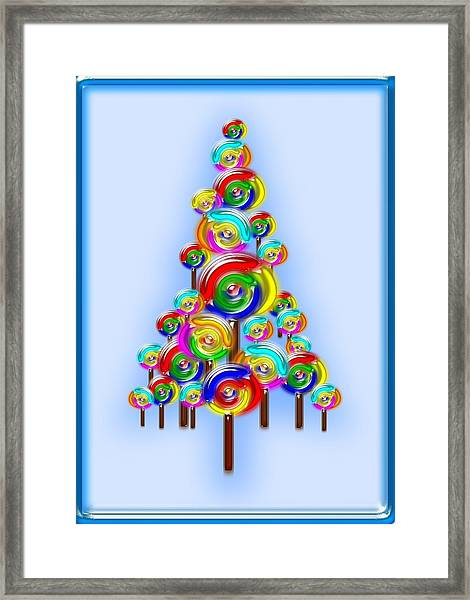 Lollipop Tree Framed Print
