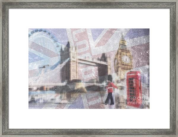 London Blue Framed Print
