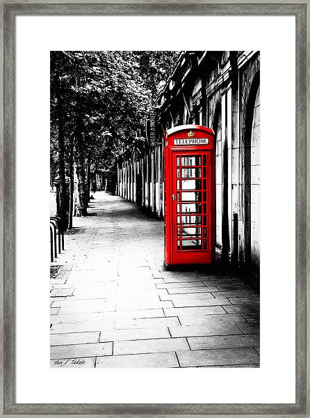 London Calling - Red Telephone Box Framed Print