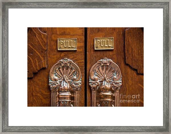 London Coliseum Doors 02 Framed Print