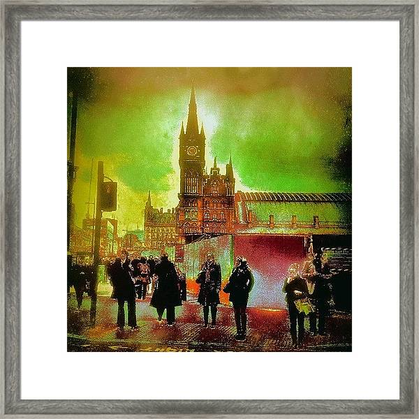 London Edit Framed Print