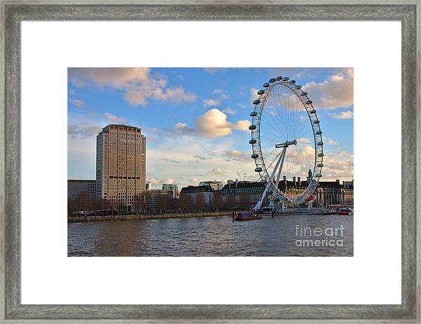 London Eye And Shell Building Framed Print