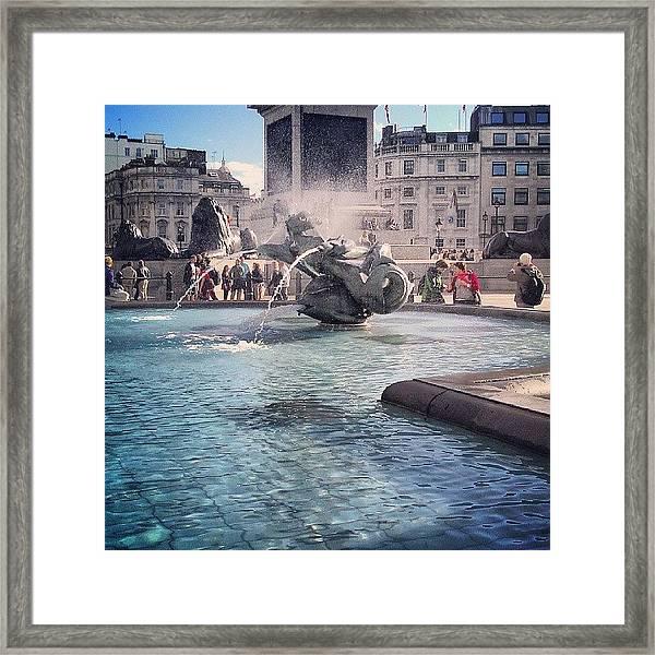 #london #piccadelly #water #uk Framed Print by Abdelrahman Alawwad