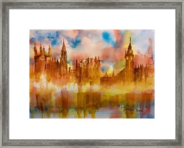 London Rising Framed Print