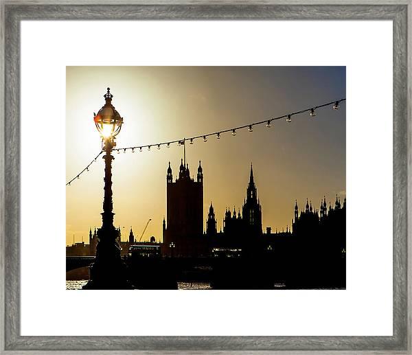 London South Bank Silhouette Framed Print
