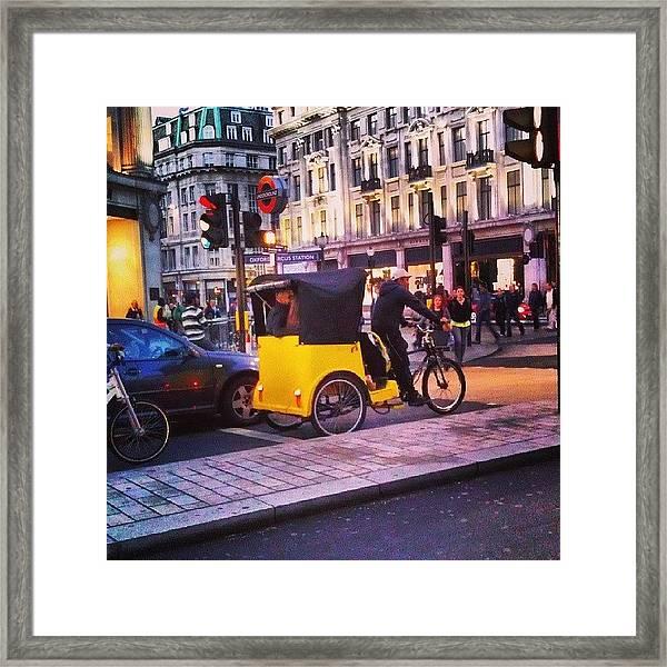 #london #street  #streetphoto #cars Framed Print by Abdelrahman Alawwad