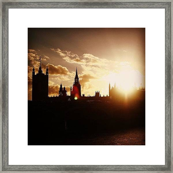 #london #westminster #parliamenthouse Framed Print