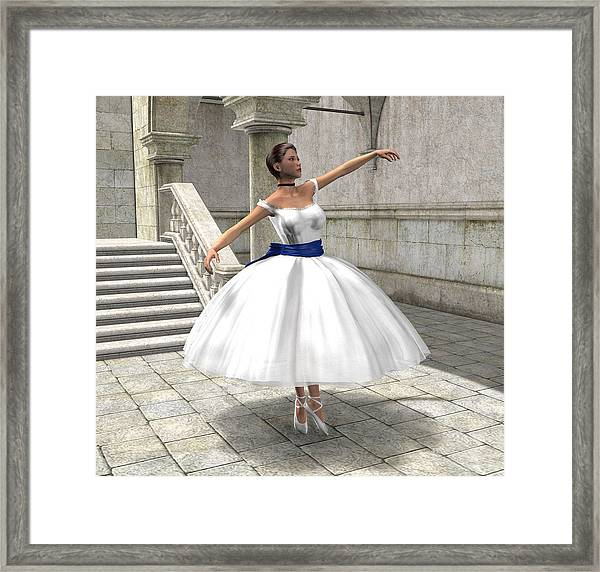 Lone Ballet Dancer Framed Print