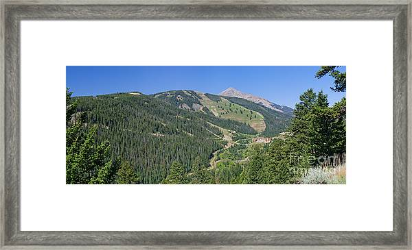 Lone Mountain Valley Framed Print