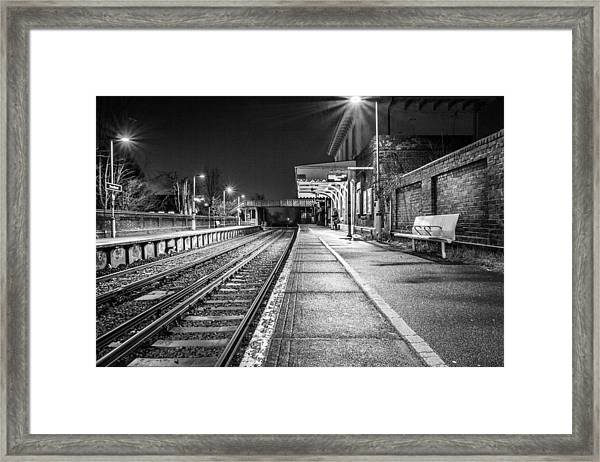 Lone Traveller. Framed Print