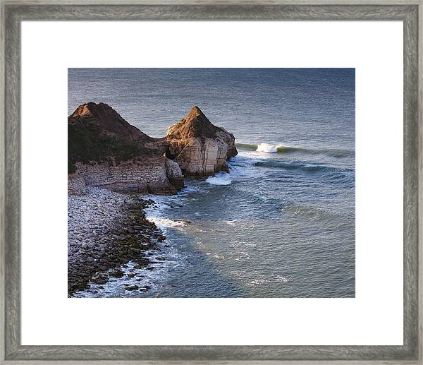 Lone Wave Breaking Framed Print