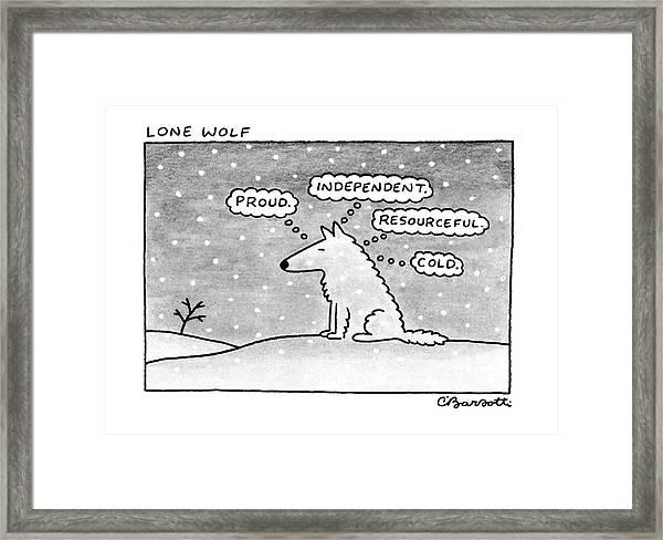 Lone Wolf: Framed Print