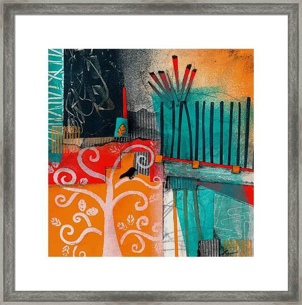 Lonecrow Spirit  Framed Print