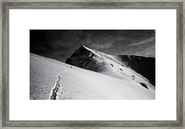 Lonely Climber Framed Print