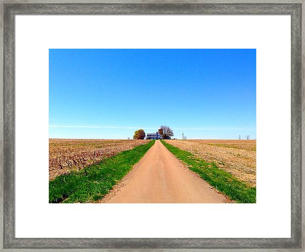 Lonely Farm Framed Print