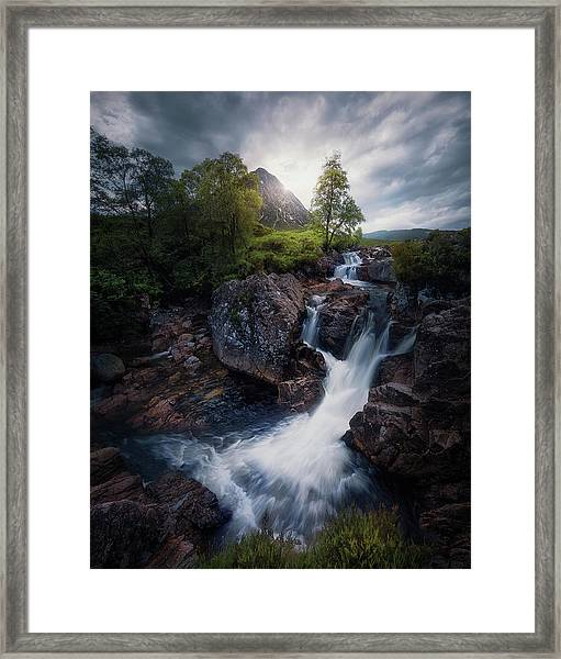 Lonely Mountain 3. Framed Print by Juan Pablo De