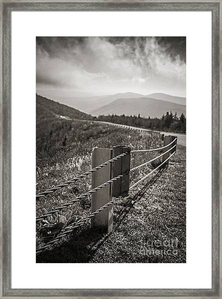 Lonely Mountain Road Framed Print