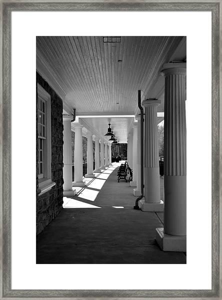 Lonely Train Station At Valley Forge Framed Print
