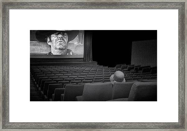 Lonely...at The Movies... Framed Print