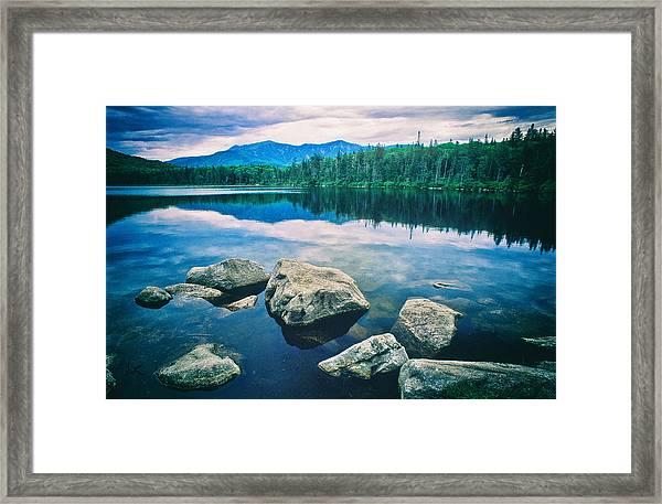 Lonesome Lake Nh Framed Print
