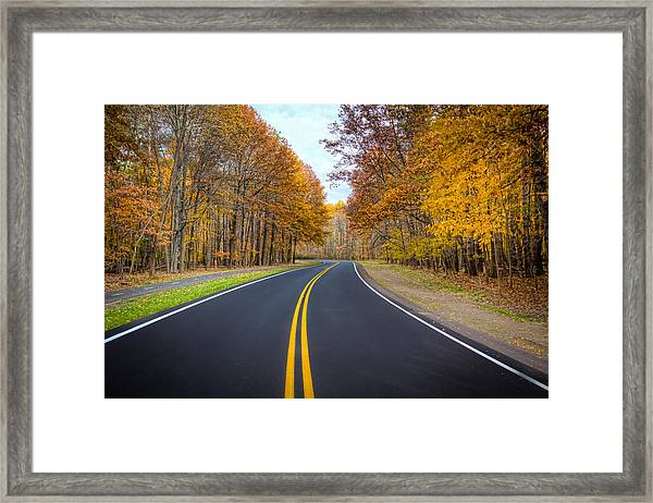 Long And Winding Road Framed Print
