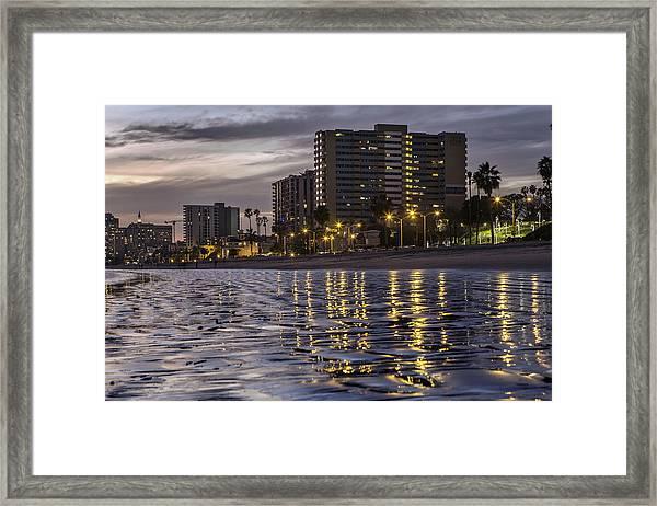 Long Beach Evening Framed Print