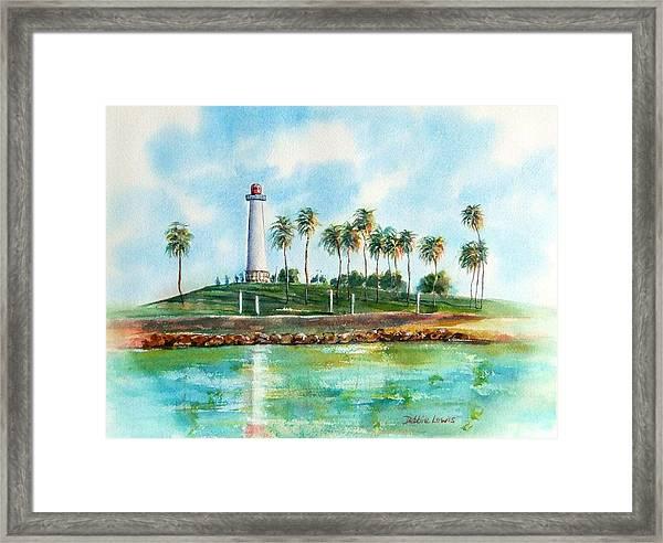 Long Beach Lighthouse  Version 2 Framed Print
