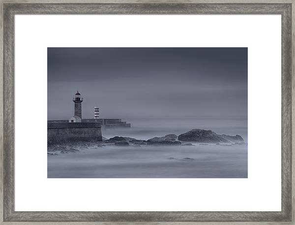 Long Exposure Foz Porto Framed Print