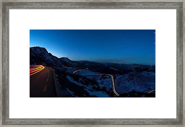 Long Exposure In Serra Da Estrela Portugal Framed Print