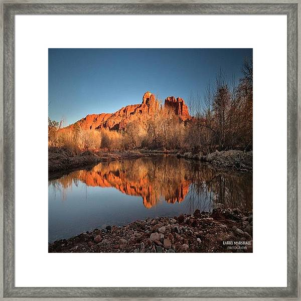 Long Exposure Photo Of Sedona Framed Print
