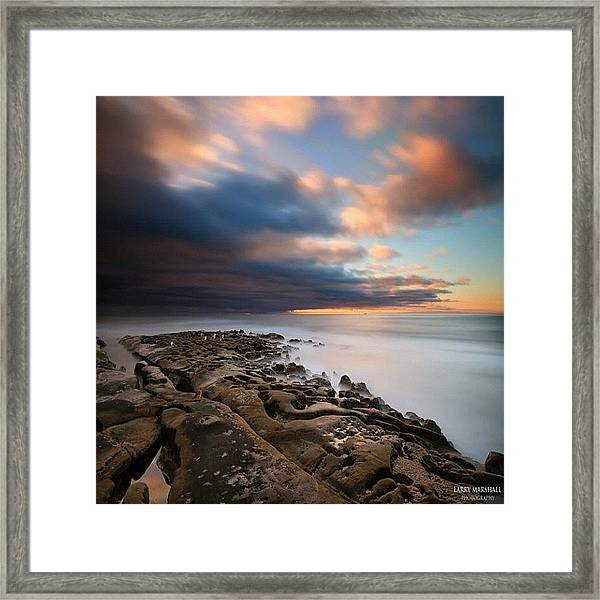Long Exposure Sunset Of An Incoming Framed Print
