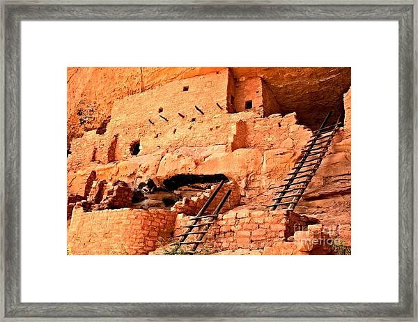 Long House Ladders Framed Print