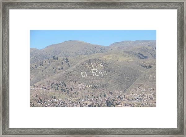 Long Live Peru Framed Print