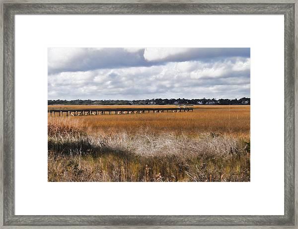 Long Marsh Dock Framed Print