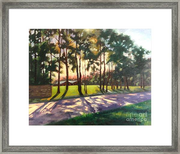 Long Shadows On Longmire  Framed Print
