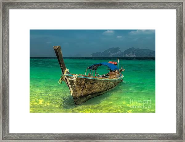 Longboat Framed Print