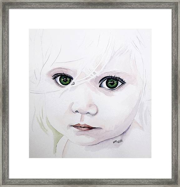 Longing Eyes Framed Print