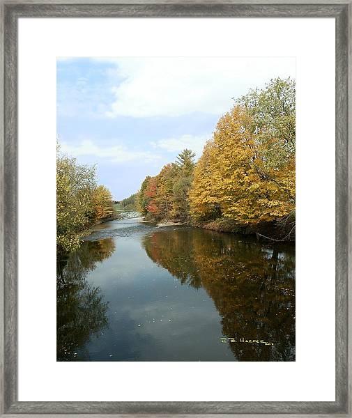 Longley Bridge View Framed Print