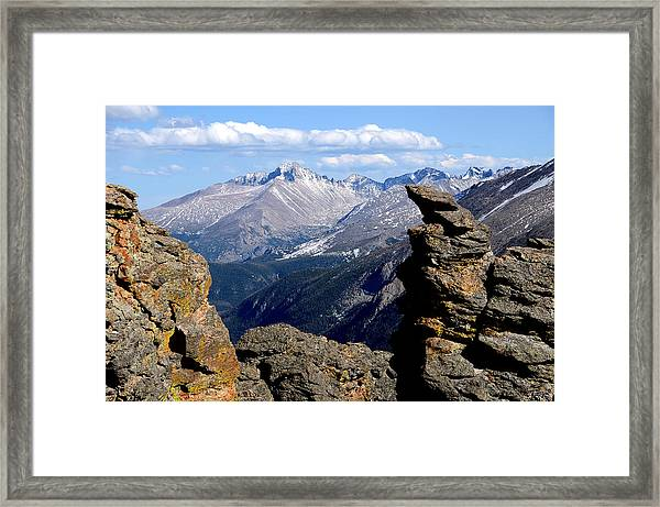 Long's Peak From The Rock Cut Framed Print