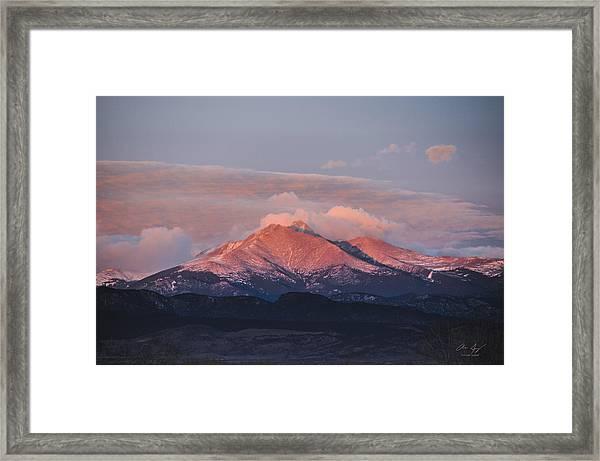 Longs Peak Sunrise Framed Print