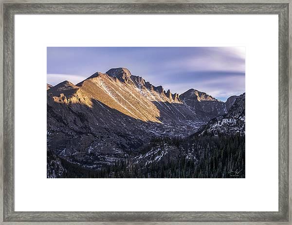 Longs Peak Sunset Framed Print