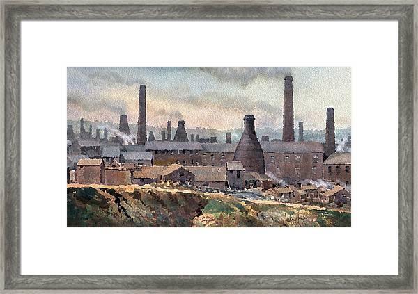 Longton Pot Works Framed Print