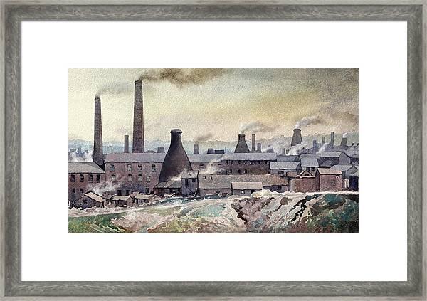 Longton Skyline Framed Print