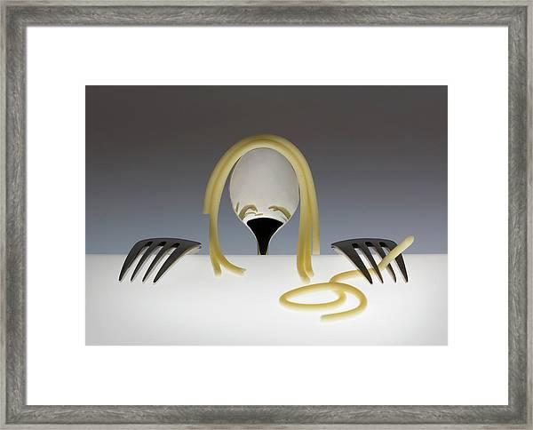 Look At Me, It's Spaghetti Hair! Part 2 Framed Print