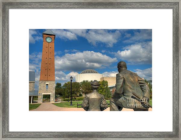 Look What They Built For Us Kitty Framed Print